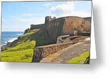 San Christobal Castle Old San Juan Greeting Card