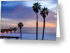 San Clemente Pier Greeting Card by Radek Hofman