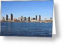 San Diego Ca Harbor Skyline Greeting Card