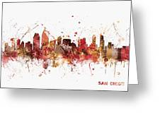 San Diego California Skyline Greeting Card