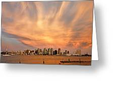 San Diego Cloud Burst Greeting Card