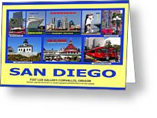 San Diego Composite Greeting Card