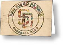 San Diego Padres Logo Art Greeting Card