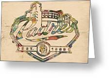 San Diego Padres Memorabilia Greeting Card