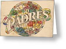 San Diego Padres Poster Art Greeting Card