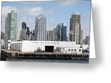 San Diego Port Greeting Card