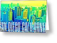 San Diego Postcard Greeting Card