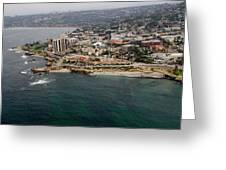 San Diego Shoreline From Above Greeting Card