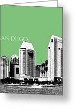 San Diego Skyline 2 - Apple Greeting Card