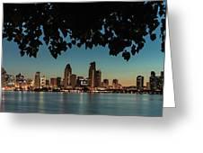 San Diego Sunrise Greeting Card