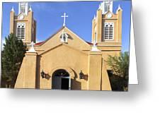San Felipe Church - Old Town Albuquerque   Greeting Card