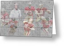 San Francisco 49ers Legends Greeting Card