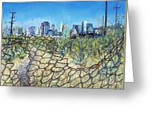 San Francisco And Flowery Vagabond Path Of Yesterday Greeting Card