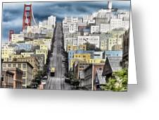San Francisco Backlot Walt Disney World Greeting Card