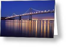 San Francisco Bay Bridge At Twilight Greeting Card