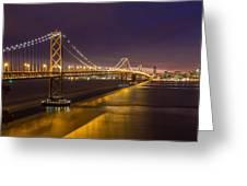 San Francisco Bay Bridge Greeting Card by Pierre Leclerc Photography