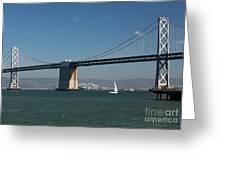 San Francisco Bay Bridge West Span Vii Greeting Card by Suzanne Gaff