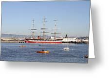 San Francisco Boats Greeting Card