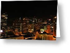San Francisco By Night Greeting Card