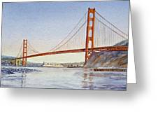 San Francisco California Golden Gate Bridge Greeting Card