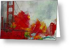 San Francisco City Collage Greeting Card