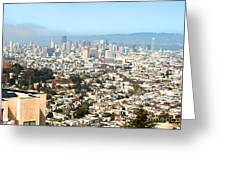 San Francisco City Vista Greeting Card by Artist and Photographer Laura Wrede