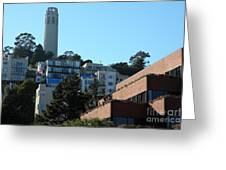 San Francisco Coit Tower At Levis Plaza 5d26193 Greeting Card