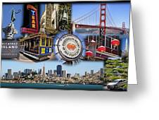 San Francisco Collage Greeting Card
