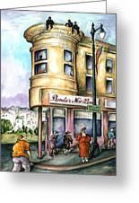 San Francisco North Beach - Watercolor Art Greeting Card