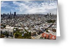 San Francisco Daytime Panoramic Greeting Card