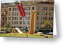 San Francisco Embarcadero Greeting Card by YJ Kostal