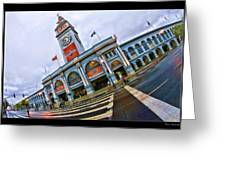 San Francisco Ferry Building Giants Decorations. Greeting Card