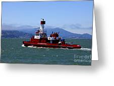 San Francisco Fire Department Fire Boat Greeting Card