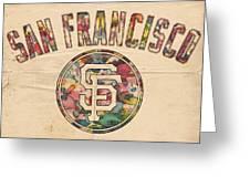 San Francisco Giants Logo Vintage Greeting Card