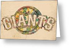 San Francisco Giants Poster Art Greeting Card