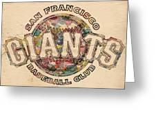 San Francisco Giants Poster Vintage Greeting Card