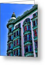 San Francisco Glow By Diana Sainz Greeting Card