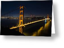 San Francisco Golden Gate Bridge At Blue Hour Greeting Card
