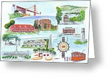 San Francisco Highlights Montage Greeting Card