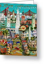 San Francisco Illustration Greeting Card
