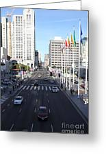 San Francisco Moscone Center And Skyline - 5d20515 Greeting Card by Wingsdomain Art and Photography