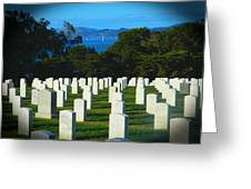 San Francisco National Cemetery In El Presidio Greeting Card
