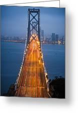 San Francisco - Oakland Bay Bridge Greeting Card