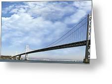 San Francisco Oakland Bay Bridge Greeting Card