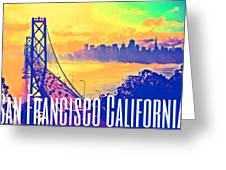San Francisco Postcard Greeting Card