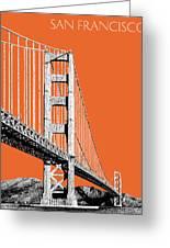 San Francisco Skyline Golden Gate Bridge 2 - Coral Greeting Card