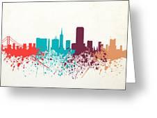 San Francisco Skyline Paint Greeting Card
