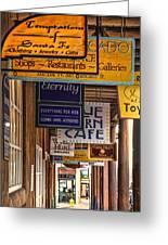 San Francisco Street Shops Greeting Card
