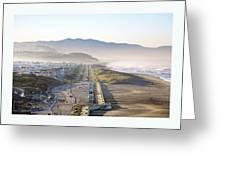 San Francisco Morning - The Great Highway Ocean Beach Greeting Card