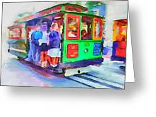 San Francisco Trams 3 Greeting Card by Yury Malkov